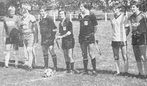 2 joueurs ASBH - Seravalli N.- Fricker - Hauptmann A. - Koehl allias Kopa 1 joueur de Hirtzfelden