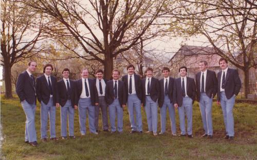 Comité UNAF 1986 : Kettler Ch. - Riess M. - Ugolini A. - Simon Ch. - Flohr JM. - Ruant J. - Léon S. - Oberlin A. - Fuchs Ch. - Ferran R. - Couty M. - Meir D.